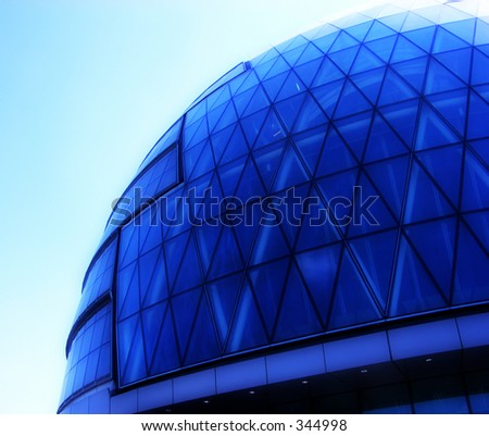 This is the mayors building in central London (Its sometimes called the Alien head).