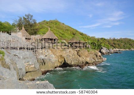 This is the sea of Sichang island at Chonburi,Thailand - stock photo