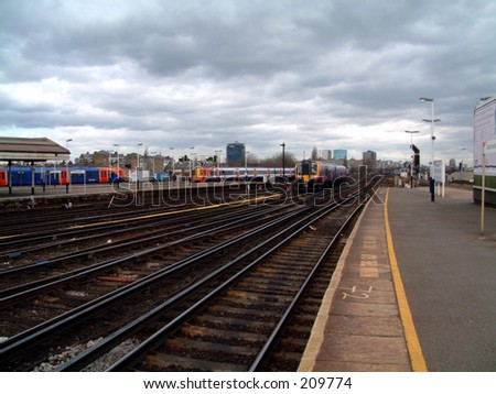 This is the view taken from  platform 10 on Clapham train station.
