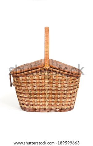 This is the wicker willow pannier in  white background