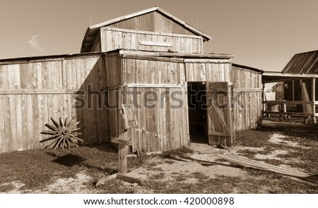 this old barn has a bar inside - stock photo