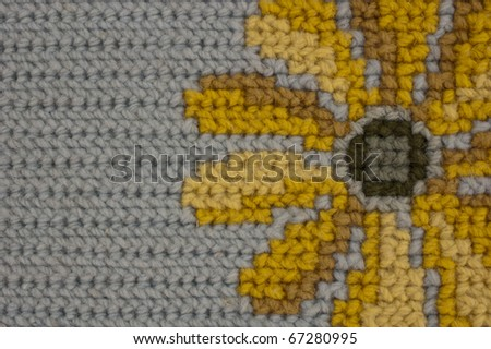 This photo shows a textile  texture off a hand made flower.