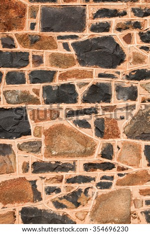 This wall has a mosaic pattern. Use for texture or background - stock photo
