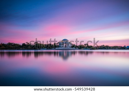 Thomas Jefferson Memorial at sunset | Washington, D.C., USA