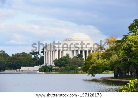 Thomas Jefferson Memorial in Autumn, Washington DC - United States