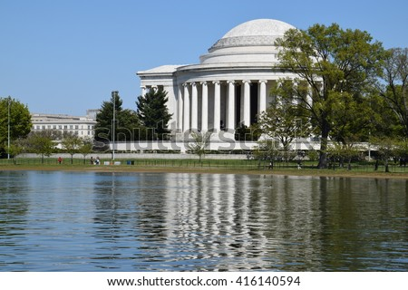 Thomas Jefferson Memorial in Washington, DC - stock photo