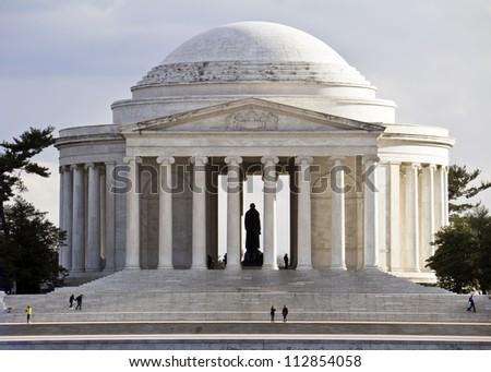 Thomas Jefferson Memorial, in Washington, DC, USA - stock photo