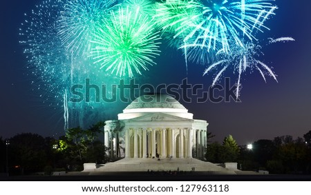 Thomas Jefferson Memorial in Washington DC, USA - stock photo