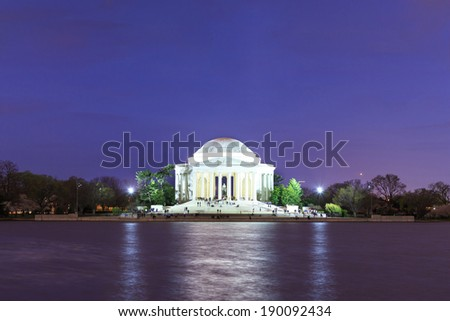 Thomas Jefferson Memorial in Washington DC, USA