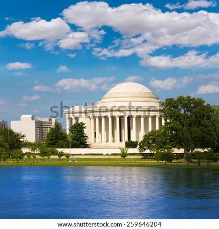 Thomas Jefferson memorial in Washington DC USA - stock photo