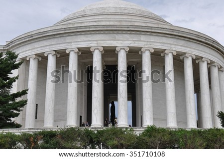 Thomas Jefferson Memorial, Washington D.C., USA. - stock photo