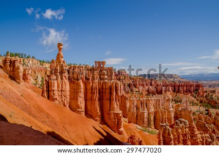 thor's hammer bryce canyon national park utah - stock photo
