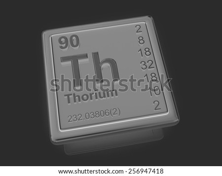 Thorium. Chemical element. 3d