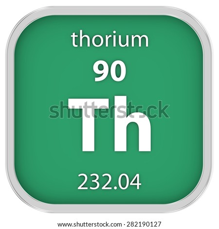 Thorium material on the periodic table. Part of a series.