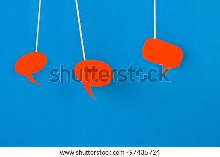 Thought bubbles for speech - stock photo