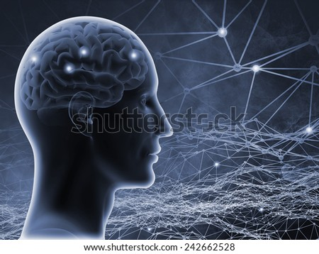 Thought. Conceptual 3D illustration. - stock photo