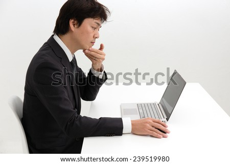 Thought gesture - stock photo