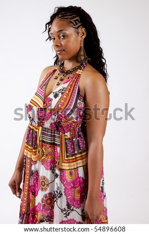Thoughtful and serious African American woman