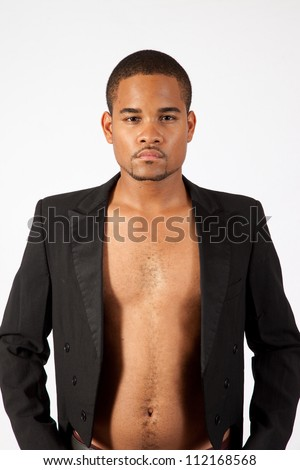 Thoughtful Black Man No Shirt On Stock Photo 112168637 - Shutterstock