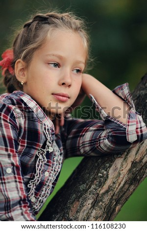 thoughtful child - stock photo