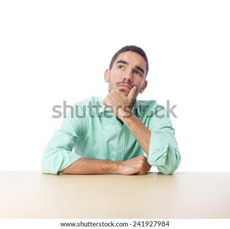 Thoughtful guy - stock photo