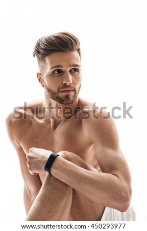 Thoughtful male athlete having rest
