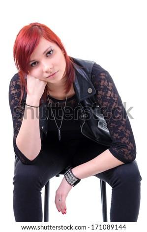 Thoughtful teenage urban girl - stock photo