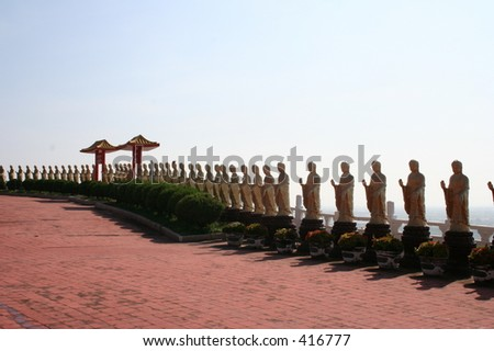 Thousand Buddha Statues at Buddha-Light Mountain in Taiwan