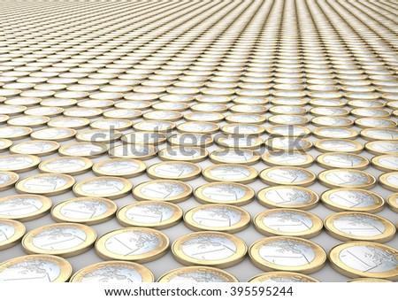 Thousand Euro - stock photo