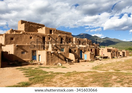thousand year old pueblo taos new stock photo 341603066