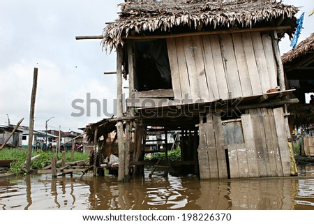 Thousands of people live here in extreme poverty without clean water or sanitation. - stock photo