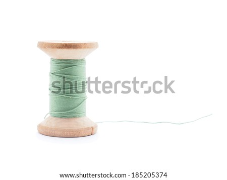 thread on white background - stock photo