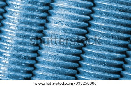 Threaded details together. Close-up photo - stock photo