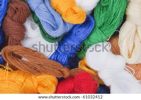 Threads for embroidery - stock photo