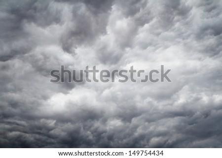 Threatening sky - stock photo