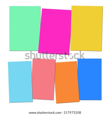 Three And Four Blank Paper Slips Showing Copyspace For 3 Or 4 Letter Words