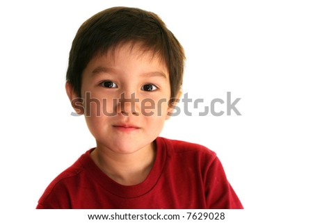 Three and half years old boy - stock photo