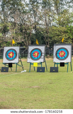 Three  archery target - stock photo