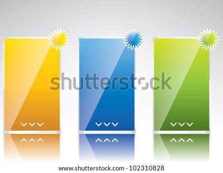 Three banner style web element - stock photo