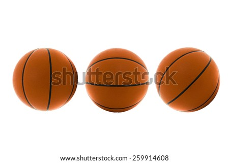 Three Basketball - stock photo