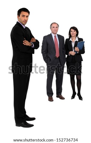 Three business colleagues - stock photo