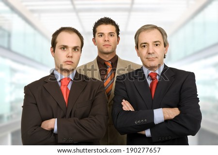 three business man at the office