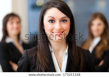 Three business women in an office