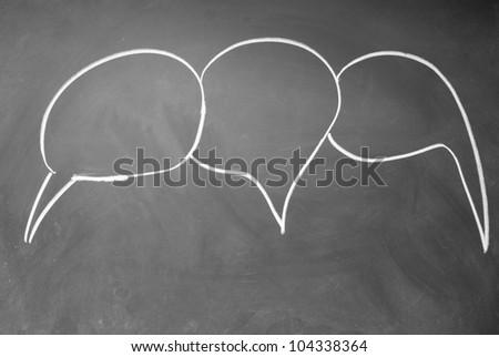 Three chat  symbols - stock photo