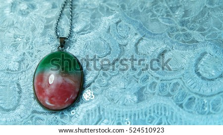 Three color jade necklace Chinese people called the Fu Lu Shou.