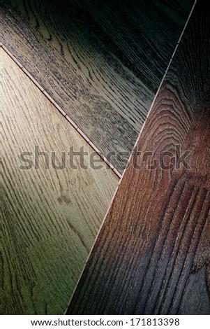 three color parquet - stock photo