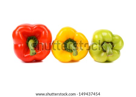 Three colored peppers