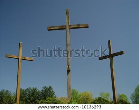 Three Crosses - stock photo