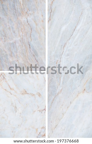 Three different marble texture. (high.res.) - stock photo