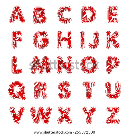 Three dimension alphabet set. Illustration ABC - stock photo